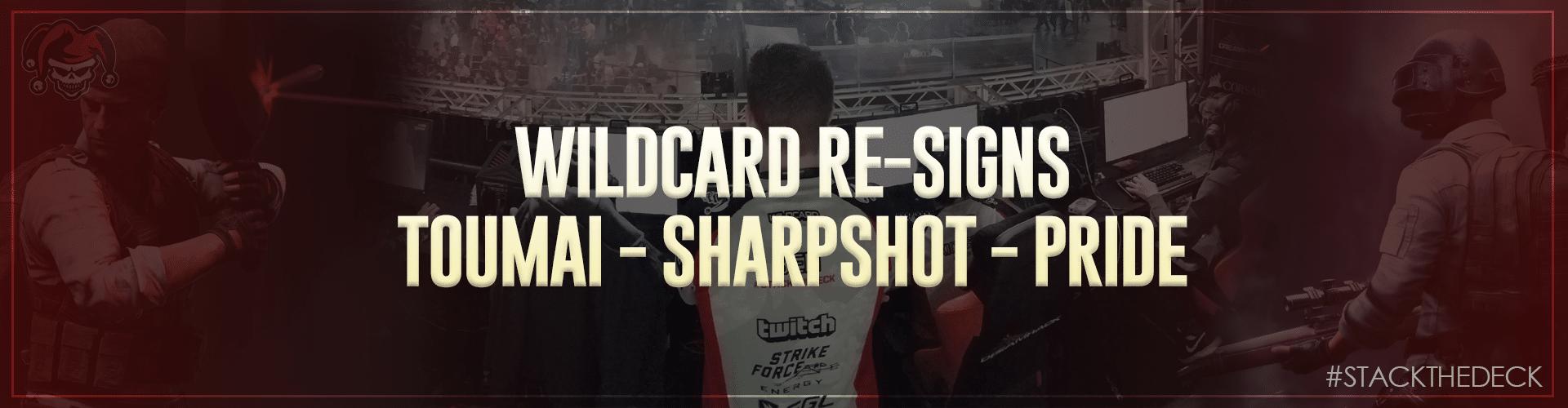 Wildcard Re-Signs PUBG Team!