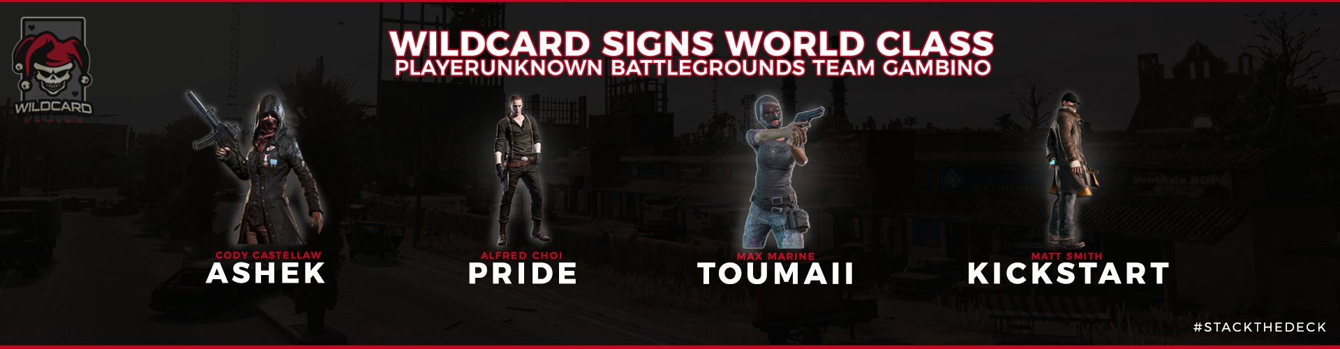 Wildcard Signs World Class PlayerUnknown's Battlegrounds team Gambino!